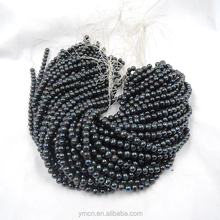 diy black pearl near round loose pearl wholesale freshwater pearl strand 7~8mm wholesale nugget