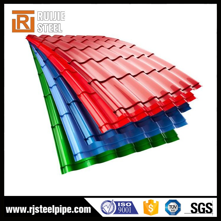 0.5mm galvalume steel corrugated roofing sheet, wine red steel roofing,steel galvanized corrugated roofing sheet