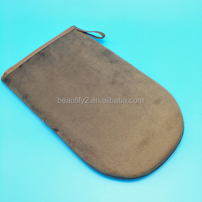 Premium self tanning mitt brown