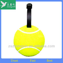 Promotion Tennis Shaped PVC Soft Rubber Luggage Tags