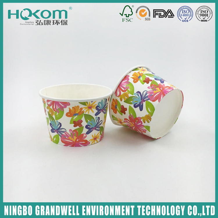 Attractive Price New Type Custom Printed Disposable Paper Ice Cream Cup