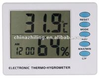 SH-121 digital thermo hygrometer and clock