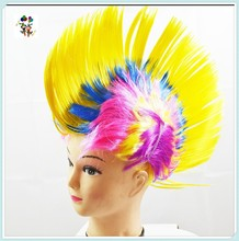 Party Mixed Colors Synthetic Punk Spike Mohawk Wigs HPC-0043