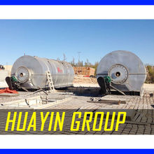 HuaYin Prolysis Pant for Tyre Crude Oil Recycling Machine To Fuel