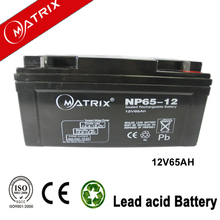 Gel solar system 12v 65ah China enersys battery