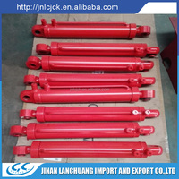 customized small bore hydraulic cylinder with axle sleeve