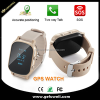 kids gps tracker 0.96 inch OLED SIM card sos panic button gps tracking real time smart watch phone