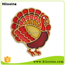 Holiday Promotional Gift Translucent Thanksgiving Day Turkey Metal Pin