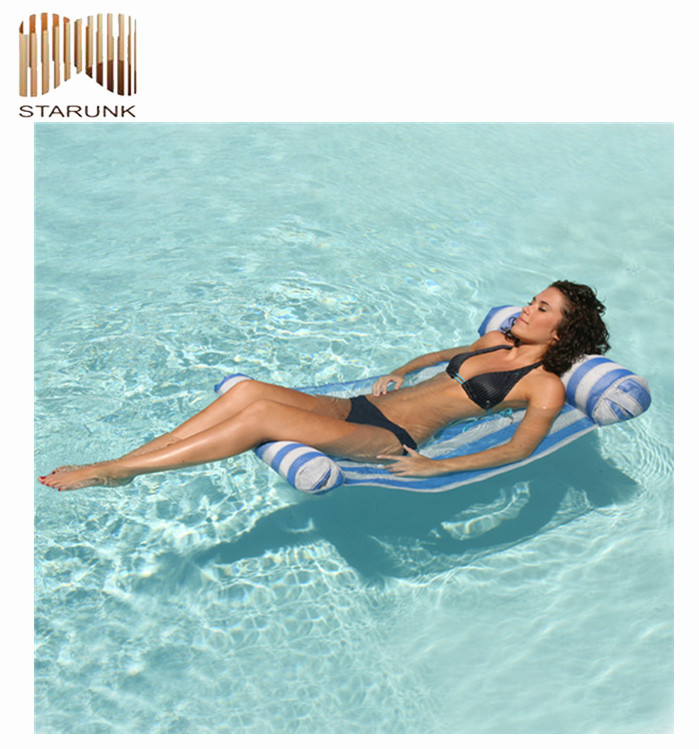 woven pvc inflatable custom pool float made in china