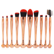 Cheap Price Private Label Cosmetic Tools Shell Dark Bristles Makeup Brush Sets