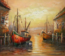 Handmade canvas art venice italy landscape oil painting