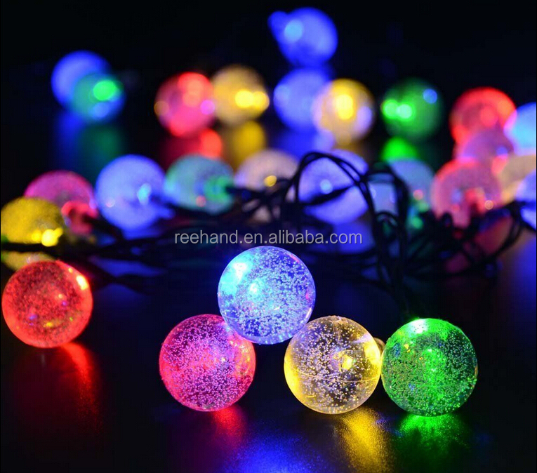 Hot sell 30 leds solar Christmas fancy string light/multi-color wedding/festival party light