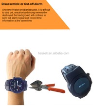 Olders/Prisoners/Offenders Judicial Anti-dismantle Wrist GPS Watch Phone GPS Tracking Device