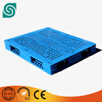 1200*1000 double faced shipping plastic pallet combined with 10 steel inside