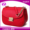2016 PU sling cross body red metal leather messenger bag for holiday