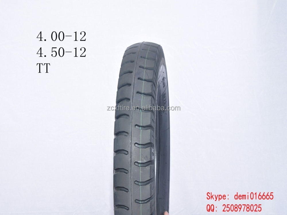 2015 hot sale high quality low price XD-048 autobike TT tire 4.00-12 motorcycle tire