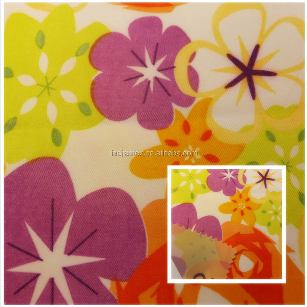 High quality cheap printed polyester taffeta shower curtain fabric for sale