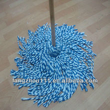 Tranditional pure cotton wet floor cleaning and wooden mop pole handle