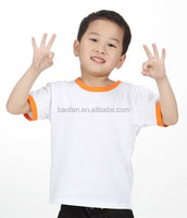Best Quality kids blank t-shirt sublimation combed cotton t shirt wholesale for boys/Girls