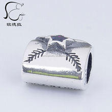 925 Sterling Silver black cheap bicone crystal beads