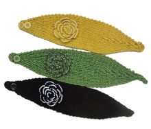 Knitted Headbands Flower Wool Warmer Hair Bands
