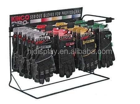 Metal Wire Rack Supermarket Glove Stand Counter Display Stand