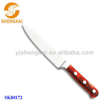1pc stainless steel decorative knife in wooden handle