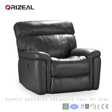 Living room high-back single electric leather recliner chairs (OZ-RE-006)