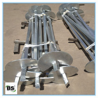 House Leveling Steel Square Shaft Helical Piers or piles