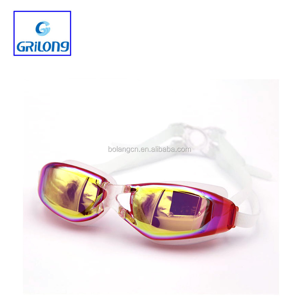 Funny swimming goggles with diopter headstrap custom logo goggle for adult