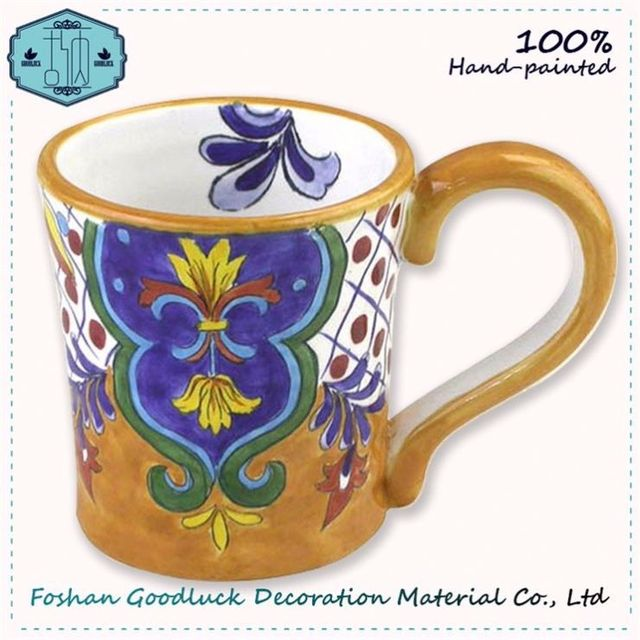 Famous Hand Craft Crockery Elegant Pattern Cool Mugs For Gifts