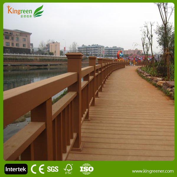 wooden fence panels/stair railing cladding wpc/outdoor fence
