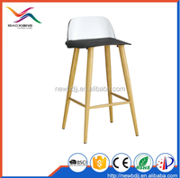 Sexy kitchen high stool colored pp plastic bar chairs