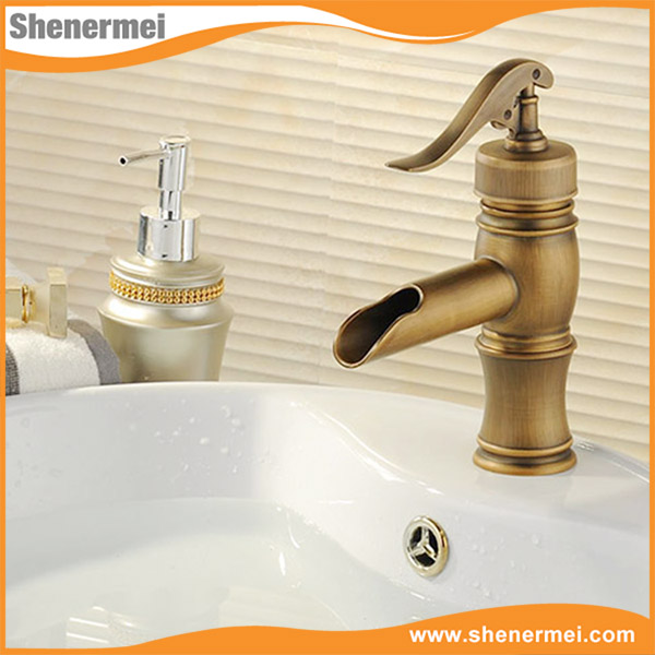Experienced Factory Brass Antique wash hair basin faucet