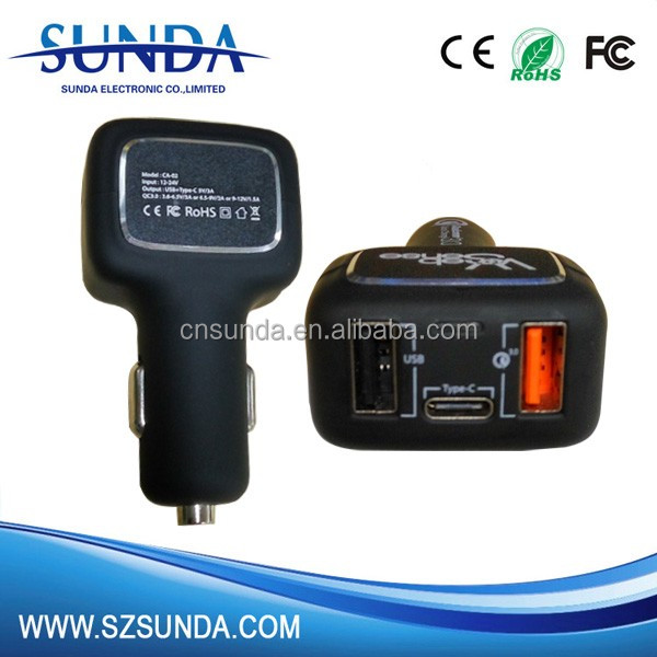 USB Type C Car charger with USB C PD