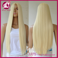 Grade 7a virgin hair Brazilian human hair full lace wig, wholesale Brazilian hair, blonde virgin hair wig ombre
