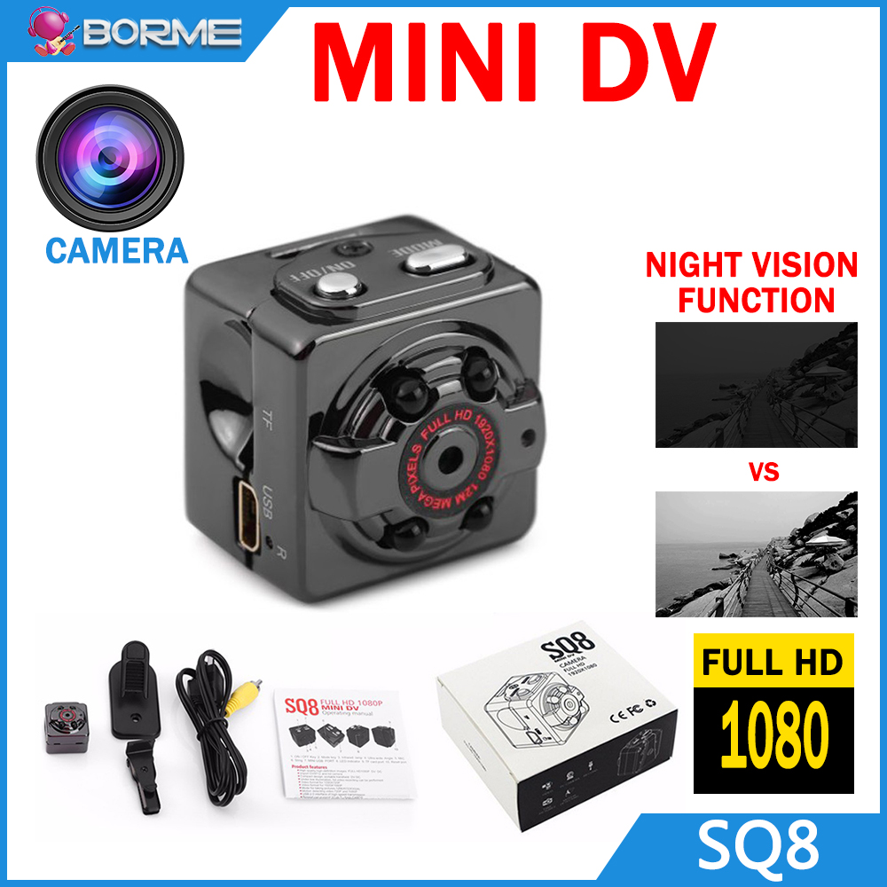 Factory wholesale price outdoor waterproof mini sports camera SQ8 1080p hd bike sport mini camera