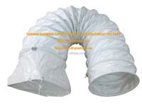 white fire retardant pvc flexible air duct pipe
