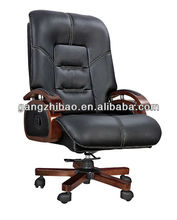 Top quality !office leather chair exective chair with wooden arms