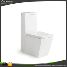 High level porcelain square water closet one piece toilet