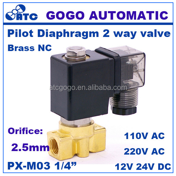 High frequency solenoid valve 1/4 inch normally close