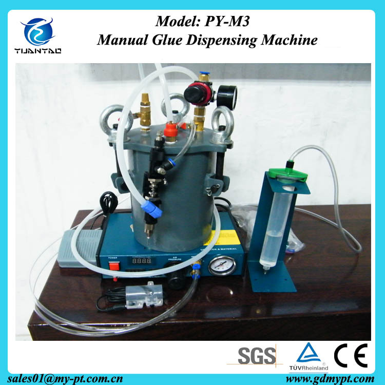 Inexpensive manual fluid AB glue machine for shoes/Lotite silicon adhesive filling robot