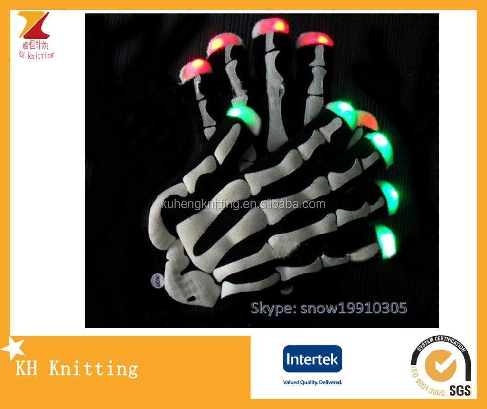 Luminous LED Flash Festival Gloves,Dotted Touch Screen Knitting Gloves