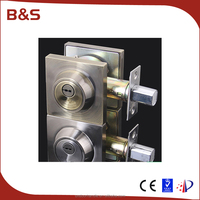 Zinc Alloy interior and exterior lockset, hidden door lock, deadbolt lock width 60/70mm single latch