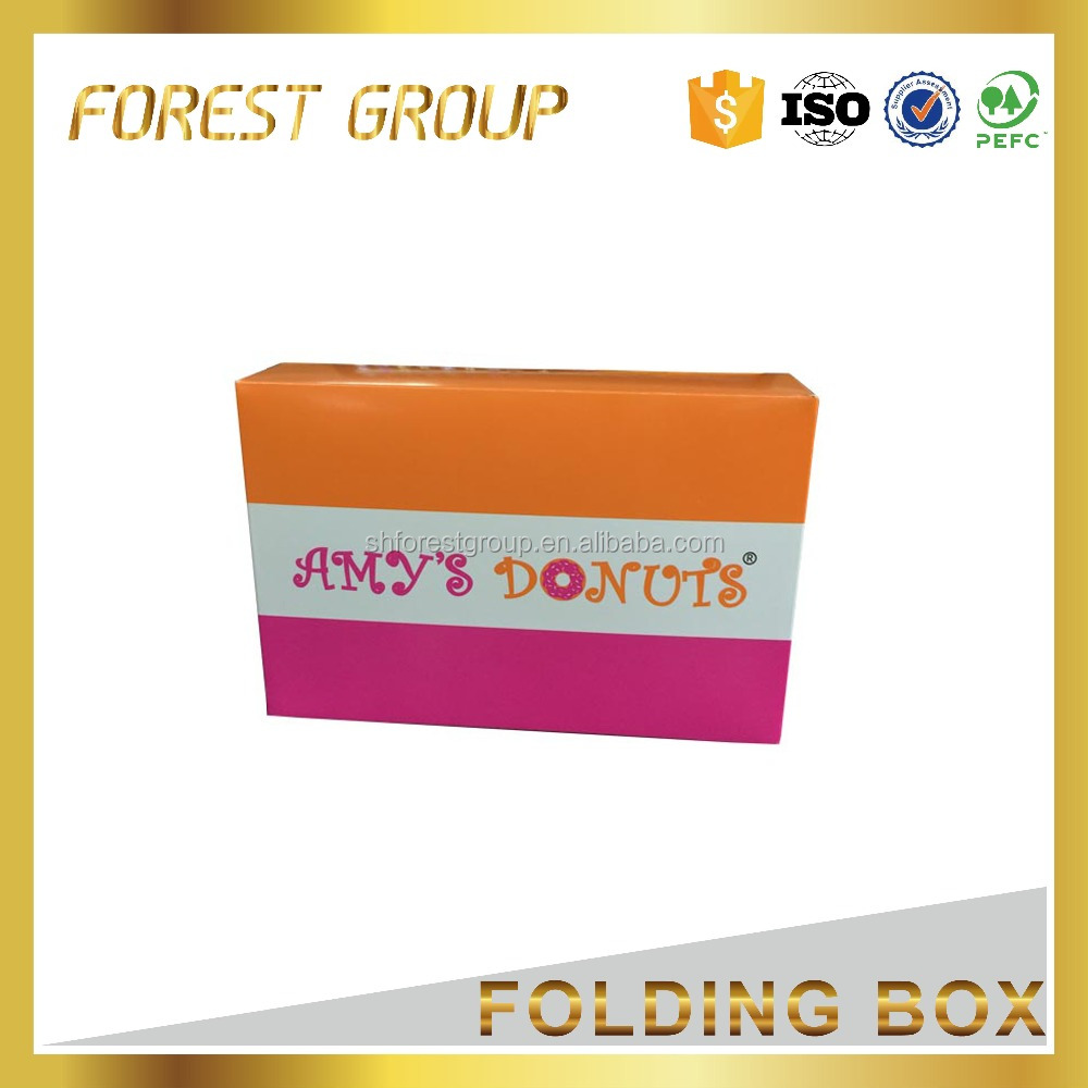 COLOR PRINTED WAX COATED PAPER CUPCAKE FOOD BOX
