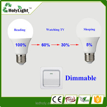 Low decay factory supply Energy Saving Led Bulb Made in China ,Dimmable Auto A60 E27 Led Bulb