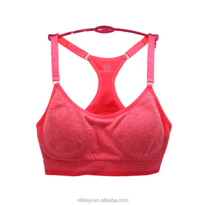 Best Quality Removeable Padded Durable Sports Bra with Thin Strap
