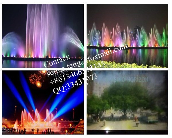 Project in Jiang men---50meters long dancing musical water fountain with 30meters wide water screen in Donghu Park