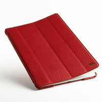Forefront Cases Leather Red 3 Folding Tablet Case Cover for iPad Air