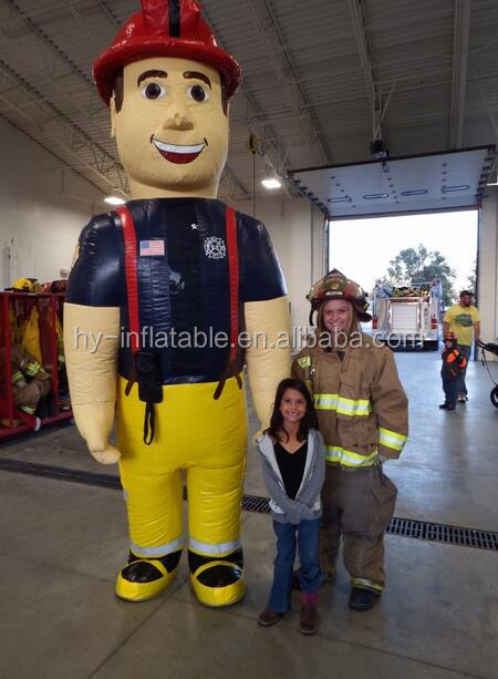 giant fireman model characters inflatable man